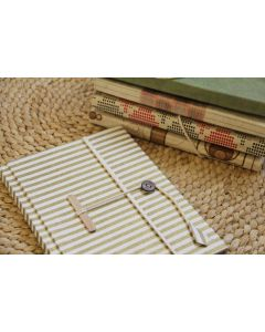 A5 Recycled Paper Notebook with Button Lock